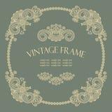 Elegant vintage round frame Royalty Free Stock Image