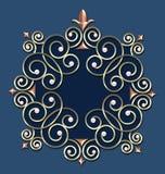 Elegant Vintage Swirl Frame royalty free stock photos