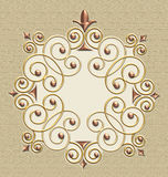 Elegant Vintage Swirl Frame Stock Photos