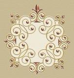 Elegant Vintage Swirl Frame stock photos