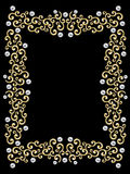 Elegant vintage Swirl Frame Stock Photo