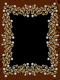 Elegant vintage Swirl Frame Stock Image