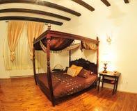 Elegant vintage tent bed Royalty Free Stock Photos