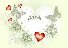 Elegant vintage  valentine card Royalty Free Stock Photos