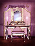 Elegant vintage vanity set Royalty Free Stock Photo