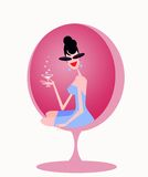 Elegant vintage women Royalty Free Stock Image
