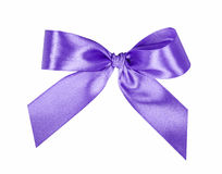 Elegant violet, lilac gift ribbon bow Stock Photo