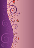 Elegant Violet Love Beauty Background For Valentin Royalty Free Stock Photography