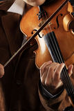 Elegant violin Stock Images