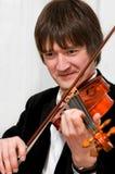 elegant violinist Royaltyfri Fotografi