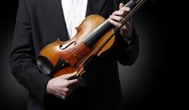Elegant violinist Royalty Free Stock Image