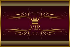 Elegant VIP card. Elegant gold tone vip card vector illustration