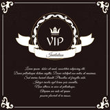 Elegant VIP card. It is executed in the Victorian style with a leaf ornament. Suitable for the design of invitations. Stock Photos