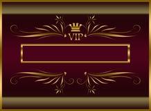 Elegant VIP malplaatje Stock Afbeeldingen