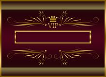 Elegant VIP template Stock Images