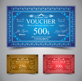 Elegant Voucher Design Royalty Free Stock Photography