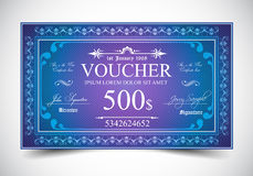 Elegant Voucher Design for 500 dollars payment. Elegant Voucher Design for 500, 250 or 100 dollars payment Stock Illustration