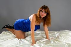 Elegant vrouwenportret Stock Foto