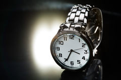 Elegant watch with a metal bracelet Stock Images