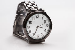 Elegant watch with a metal bracelet Stock Photography