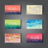 Elegant watercolor cards Royalty Free Stock Photos