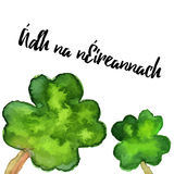 Elegant watercolor St. Patrick Day greeting card Royalty Free Stock Photography