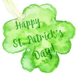 Elegant watercolor St. Patrick Day greeting card Stock Photography
