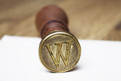 Elegant wax stamp Stock Photo