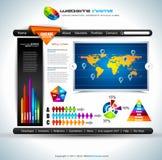 elegant website för design Arkivbilder