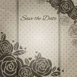 Elegant wedding card with roses. Stock Photos