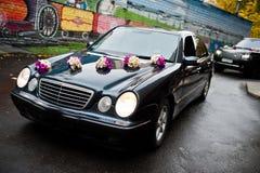 Elegant wedding  cars Royalty Free Stock Photos