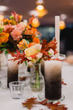Elegant Wedding decorations with flowers royalty free stock images