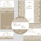 Elegant wedding design  template of lace Stock Images
