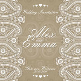 Elegant wedding design  template of lace Stock Image