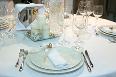 Elegant wedding dinner Stock Photo