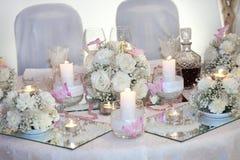 Elegant wedding dinner Royalty Free Stock Photography