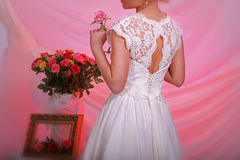 Elegant wedding dress Royalty Free Stock Photos