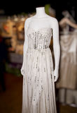Elegant Wedding Gown On Mannequin Stock Photos