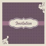 Elegant  wedding invitation Royalty Free Stock Photo