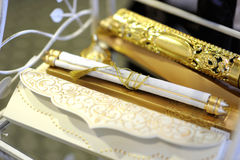 Elegant wedding invitation Stock Photos