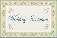 Elegant Wedding Invitation Royalty Free Stock Photos