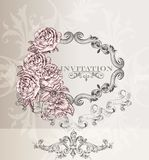 Elegant wedding  invitation card for design Stock Image