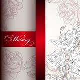 Elegant wedding invitation card for design Stock Images