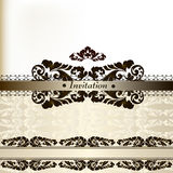 Elegant wedding invitation card Royalty Free Stock Image