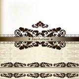 Elegant wedding invitation card stock illustration