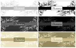 Elegant wedding invitation card Stock Photography