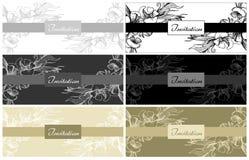 Vector set of elegant wedding invitation card Stock Photography