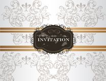 Elegant wedding invitation card in vintage style Royalty Free Stock Photos