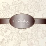 Elegant wedding  invitation card in vintage style Stock Photos