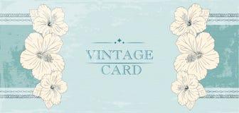 Elegant wedding invitation design, Greeting Card, banner. frame with hibiscus flowers. Vector illustration. Stock Photos